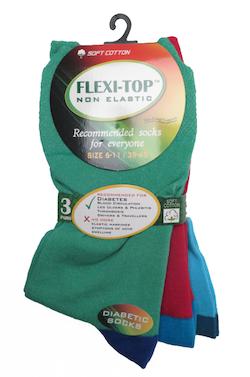 3-pack färglada strumpor