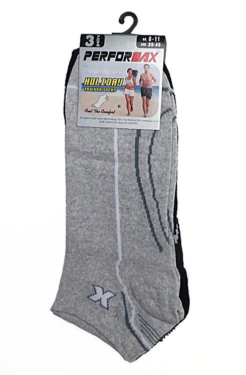 3-pack låga strumpor