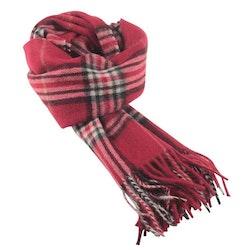 Klassisk mönstrad röd halsduk - Portia