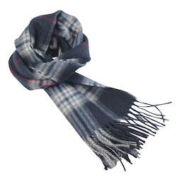 Klassisk mönstrad blå halsduk - Portia