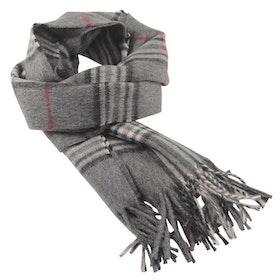 Klassisk mönstrad grå halsduk - Portia