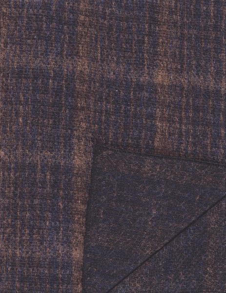 Brun/blå ullhalsduk