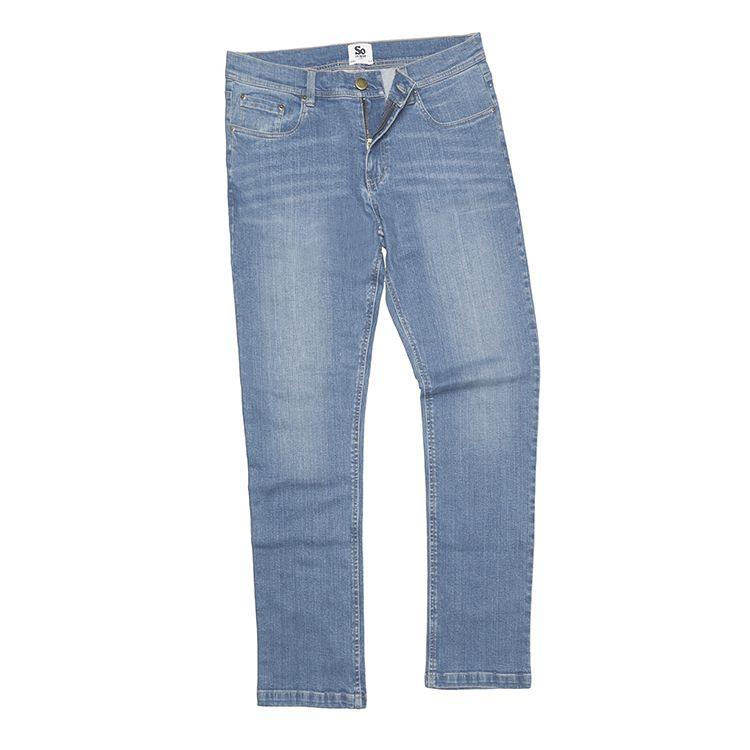 Ljusblå raka jeans-Leo