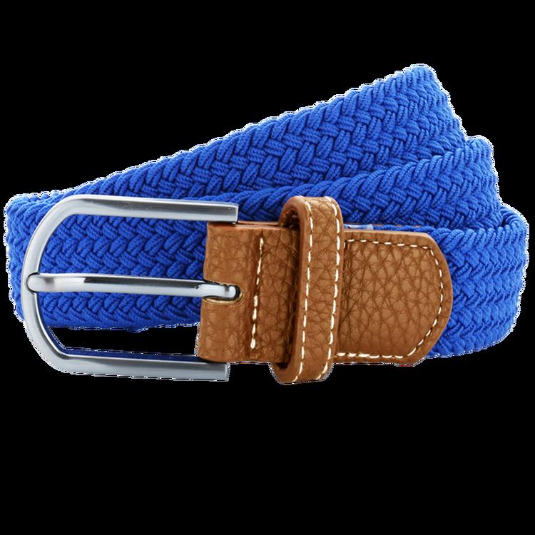 Blå flätat stretch bälte