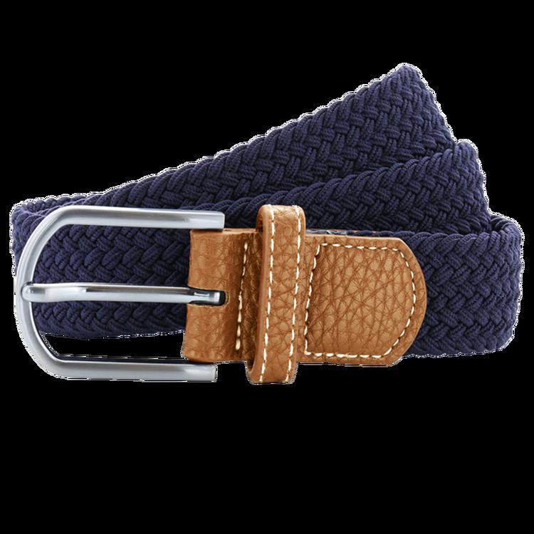 Mörkblå flätat stretch bälte