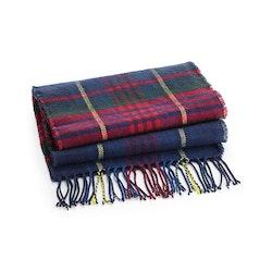Röd/blå klassisk rutig halsduk