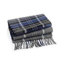 Grå/blå klassisk rutig halsduk