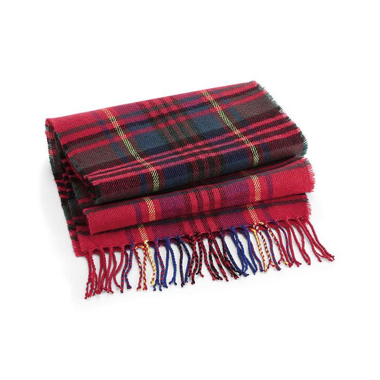 Röd klassisk rutig halsduk