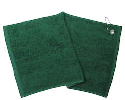 Grön golfhandduk