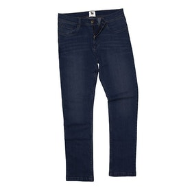Mörkblå raka jeans-Leo