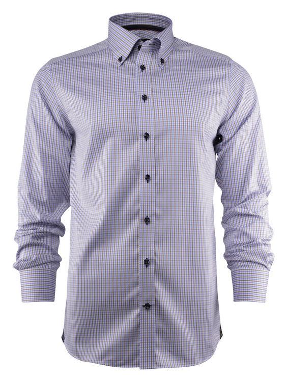 Ljusblå/brun rutig skjorta - J.Harvest & Frost