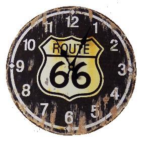Väggklocka Route 66 (34cm)
