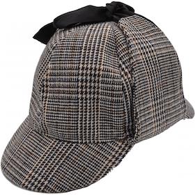 Brun Sherlock Holmes Deerstalker hatt