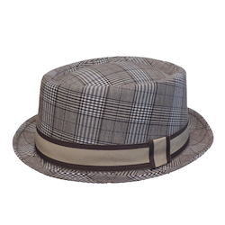 Brunbeige Pork Pie hatt