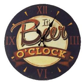 Väggklocka Beer O´clock (34cm)