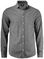Grå jeansskjorta-Cutter&Buck