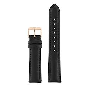 Klockarmband Chequers svart läder