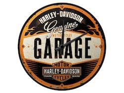 Väggklocka - Harley Davidson Garage