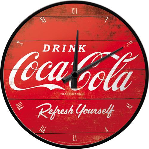Väggklocka - Drink Coca-Cola Refresh yourself