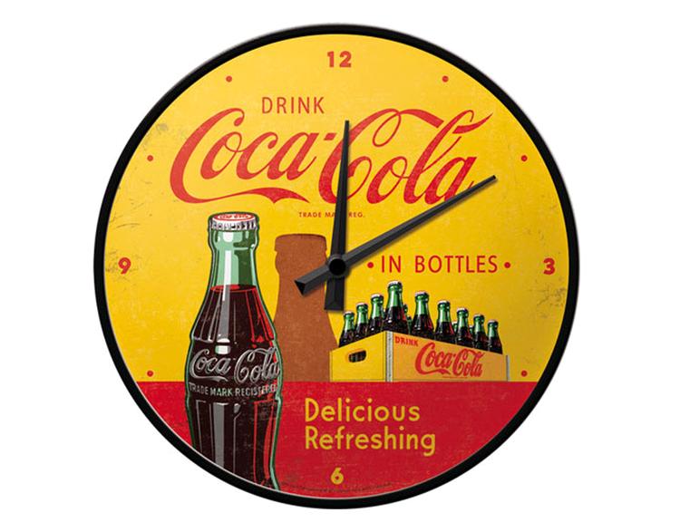 Väggklocka - Drink Coca-Cola in bottles
