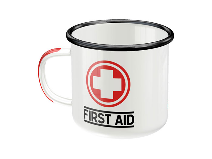 Emaljmugg - First Aid