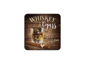 Glasunderlägg - Whiskey & Cigars
