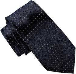 Mönstrad mörkblå slips - Atlas Design 7 cm
