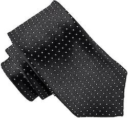 Mönstrad svart slips - Atlas Design 7 cm
