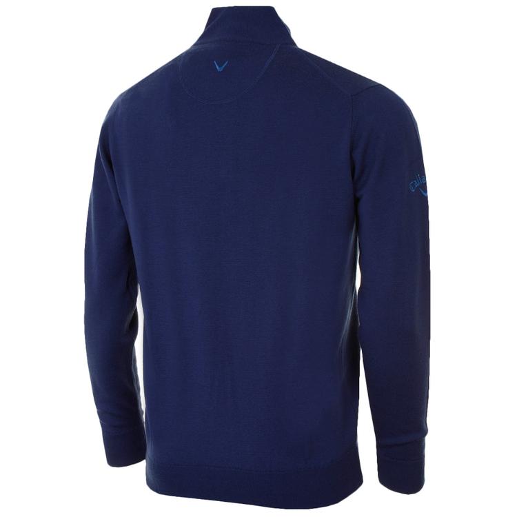 Callaway mörkblå Merino Sweater 1/4 zip
