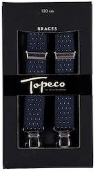 Prickiga mörkblå hängslen - Topeco