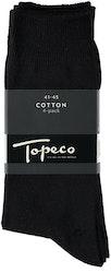 Svart bomullsstrumpa 4-pack - Topeco