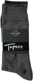 Grå bomullsstrumpa 4-pack - Topeco