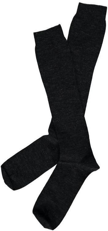Enfärgad mörkgrå knästrumpa - Topeco