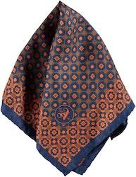 Blå/orange bröstnäsduk - Atlas Design