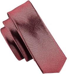 Smal vinröd slips - Atlas Design 4,5 cm