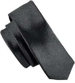 Smal svart slips - Atlas Design 4,5 cm