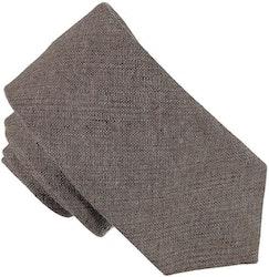 Enfärgad brun slips 7cm - Atlas Design