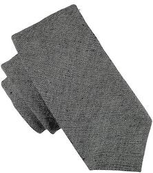 Enfärgad mörkgrå slips 7cm - Atlas Design