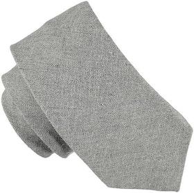 Enfärgad ljusgrå slips 7cm - Atlas Design