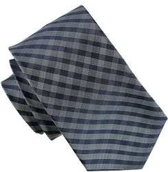 Blå rutig slips 7cm - Atlas Design