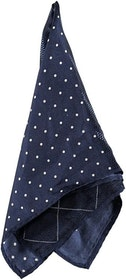 Blå näsduk med fyra olika mönster - Atlas Design