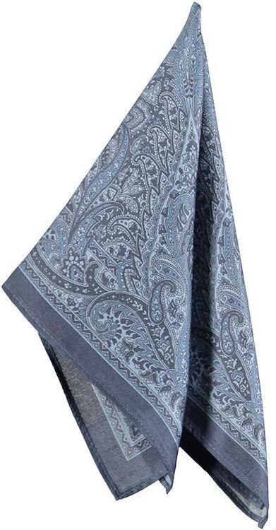 Blå bröstnäsduk med paisley mönster - Atlas Design