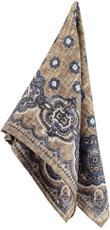 Sandfärgad mönstrad bröstnäsduk - Atlas Design