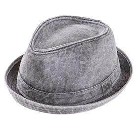 """Grå """"tvättad"""" Trilby hatt"""
