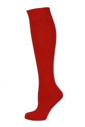 Röd enfärgad knästrumpa - MySocks