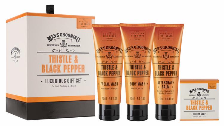 Thistle & Black Pepper Luxurious Gift Set - The Scottish Fine Soaps