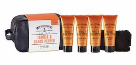 Thistle & Black Pepper Travelbag 4x75ml - The Scottish Fine Soaps