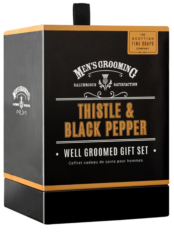 Thistle & Black Pepper Well Groomed Gift Set - The Scottish Fine Soaps
