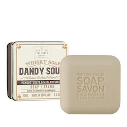 The Dandy Soar tvål i plåtask 100gr  - The Scottish Fine Soaps