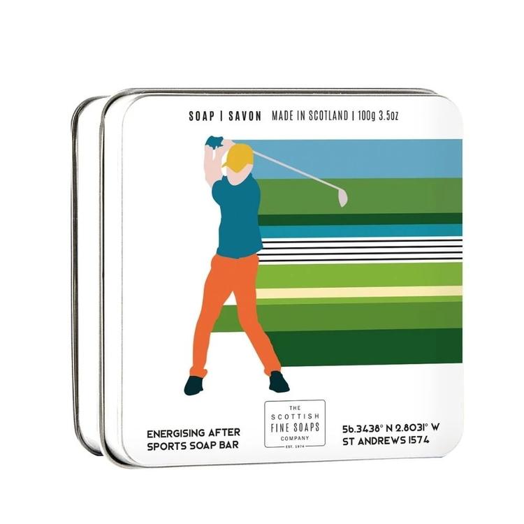 Tvål i en plåtask Golf 100gr  - The Scottish Fine Soaps